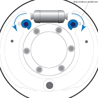 MG TC Brake Adjusters Diagram